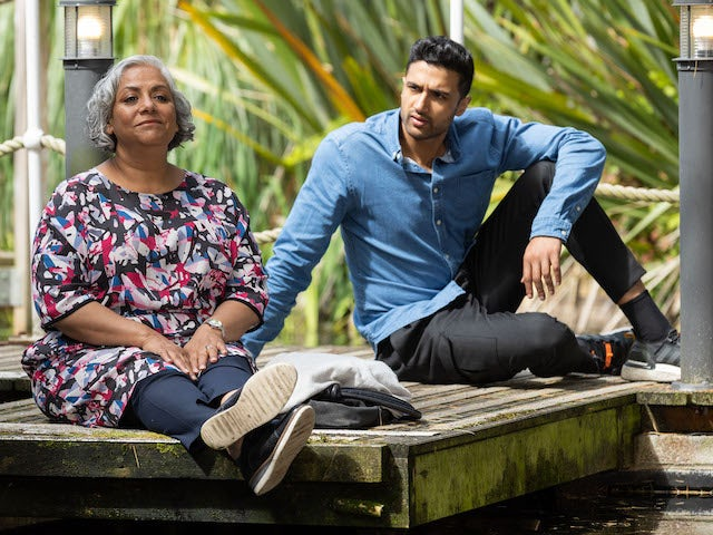 Shaq and Misbah on Hollyoaks on September 6, 2021