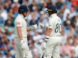 England's Jonny Bairstow and Ollie Pope in action against India on September 3, 2021