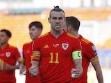 Wales attacker Gareth Bale celebrates scoring against Belarus on September 5, 2021