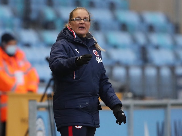 Reading Women manager Kelly Chambers pictured in March 2021