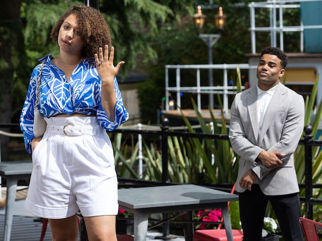Olivia and Prince on Hollyoaks on September 9, 2021
