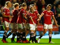 Manchester United's Ona Batlle celebrates scoring their second goal against Reading in the Women's Super League on September 3, 2021