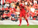 Liverpool's Roberto Firmino is substituted after an injury on August 28, 2021