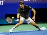 Stefanos Tsitsipas pictured at the US Open in September 2021