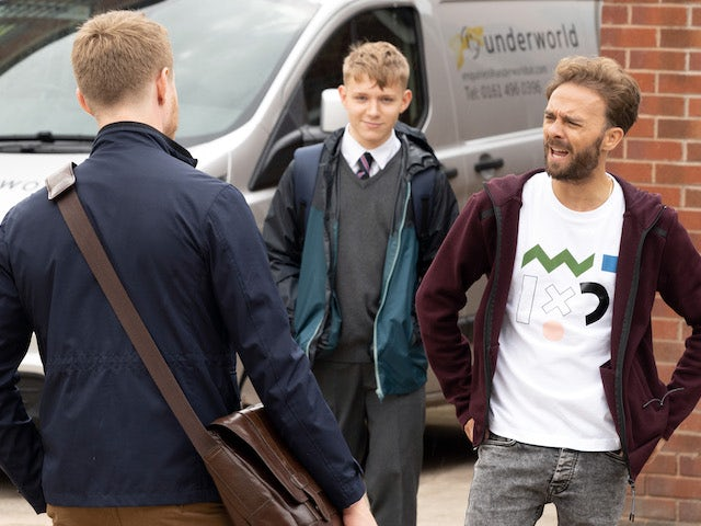 Max and David on the second episode of Coronation Street on September 24, 2021