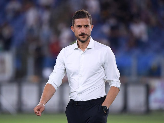 Sassuolo coach Alessio Dionisi before the match on September 12, 2021