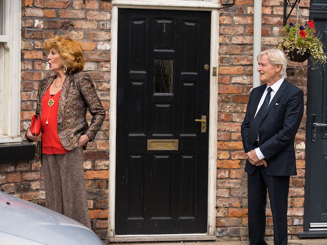 Claudia and Ken on the first episode of Coronation Street on September 24, 2021