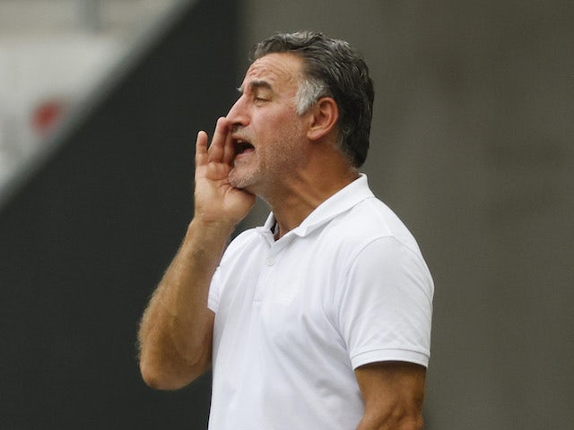 Nice head coach Christophe Galtier pictured in August 2021
