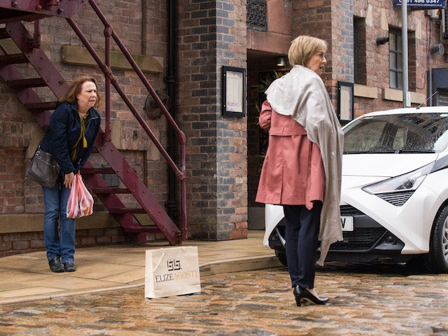 Cathy on the first episode of Coronation Street on September 20, 2021