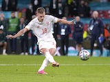 Spain attacker Dani Olmo pictured at Euro 2020 on July 6, 2021