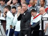 Peterborough United manager Darren Ferguson reacts on September 11, 2021