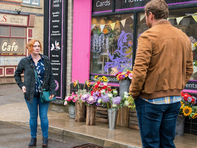 Fiz and Phill on the first episode of Coronation Street on September 13, 2021