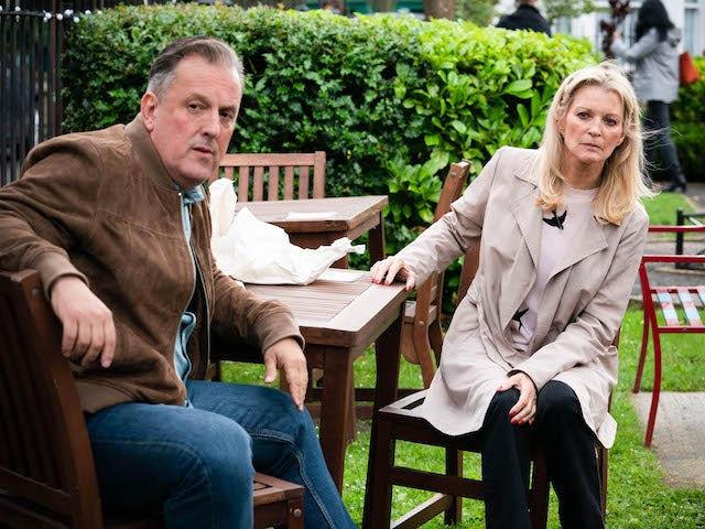 Harvey and Kathy on EastEnders on September 21, 2021
