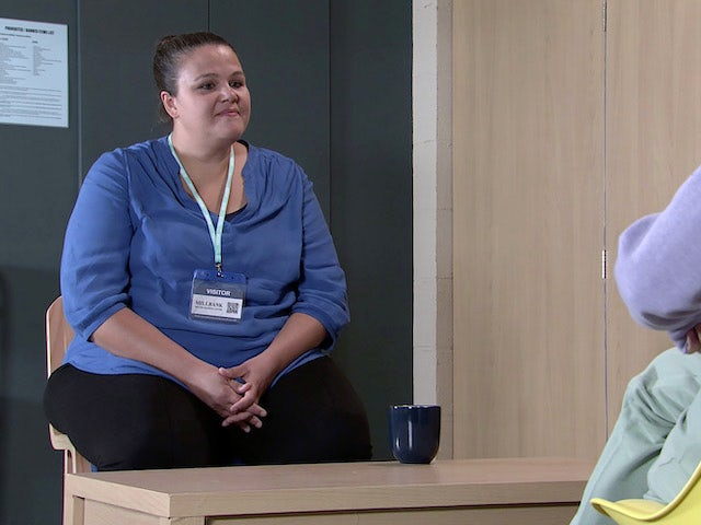Sharon on the first episode of Coronation Street on September 20, 2021