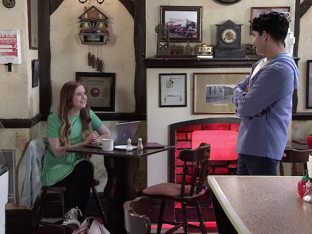 Summer and Aadi on the first episode of Coronation Street on September 15, 2021