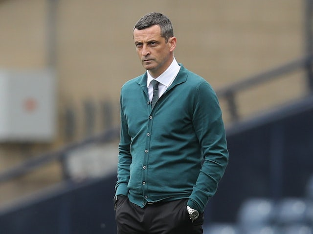 Hibernian manager Jack Ross pictured in May 2021