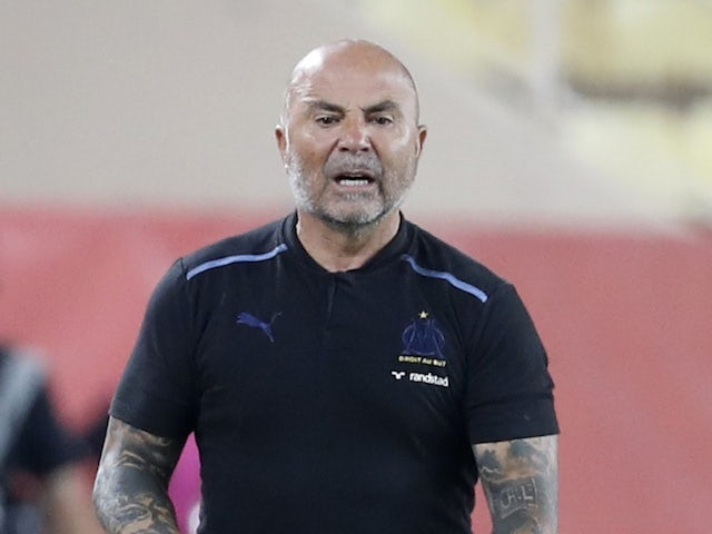 Marseille head coach Jorge Sampaoli pictured on September 11, 2021