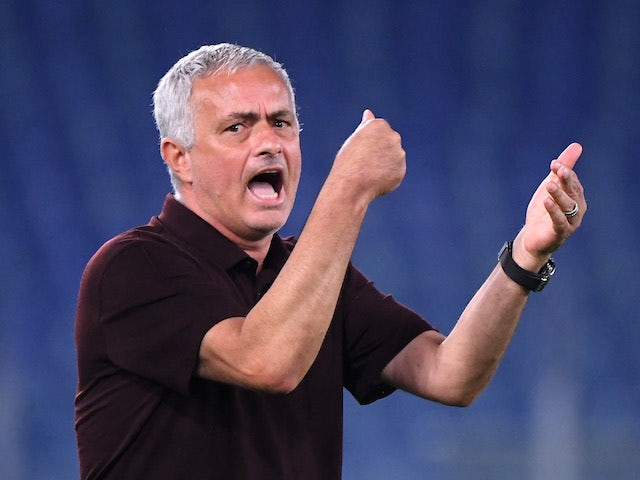 Roma manager Jose Mourinho pictured on September 12, 2021