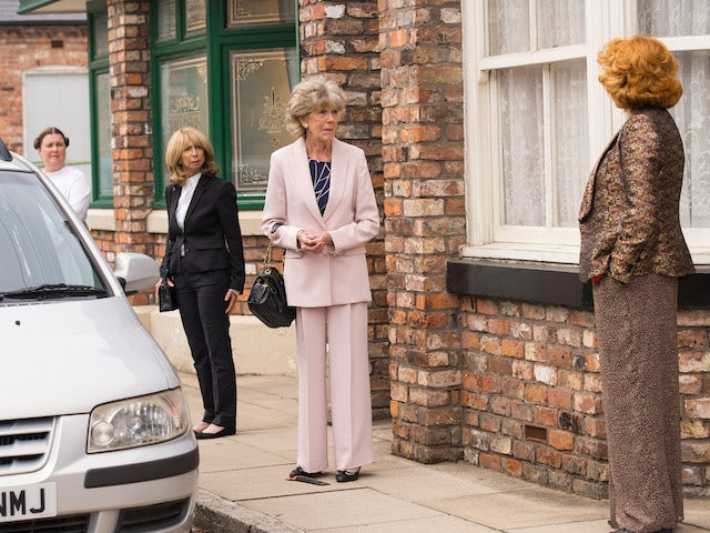 Gail, Audrey and Claudia on the first episode of Coronation Street on September 24, 2021