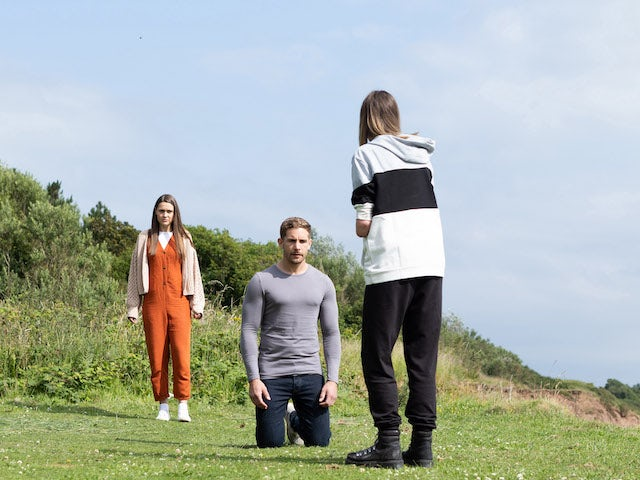 Sienna, Brody and Summer on Hollyoaks on September 16, 2021