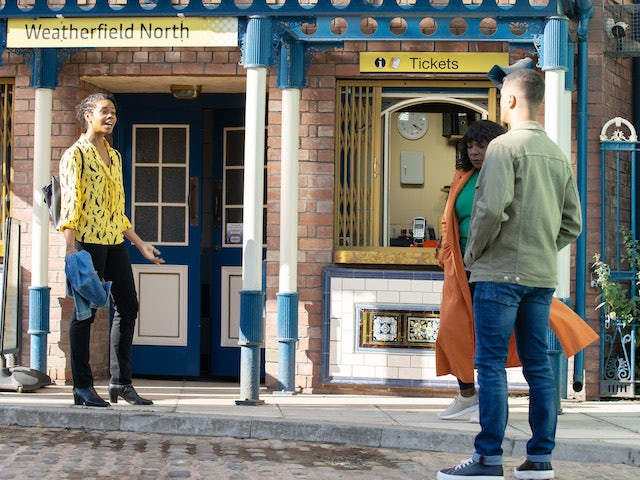 Grace, Aggie and Danny on the second episode of Coronation Street on September 24, 2021