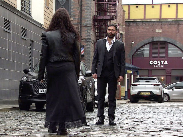 Imran on the first episode of Coronation Street on September 13, 2021