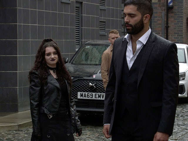 Nina and Imran on the first episode of Coronation Street on September 13, 2021