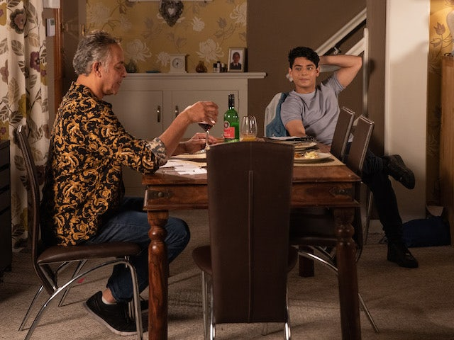 Dev and Aadi on the second episode of Coronation Street on September 13, 2021