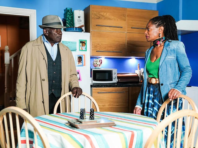 Patrick and Sheree on EastEnders on September 23, 2021