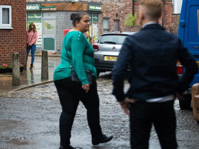 Toyah on the second episode of Coronation Street on September 17, 2021
