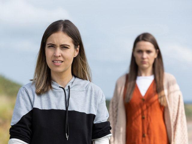 Sienna and Summer on Hollyoaks on September 16, 2021