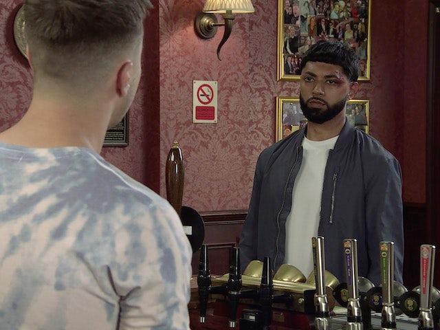 Zeedan on the first episode of Coronation Street on September 22, 2021