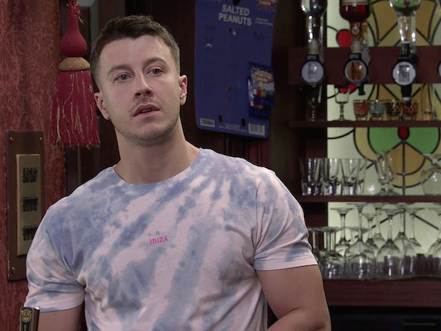Ryan on the first episode of Coronation Street on September 22, 2021