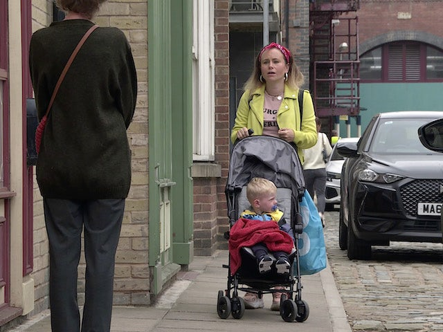 Gemma on the second episode of Coronation Street on September 20, 2021