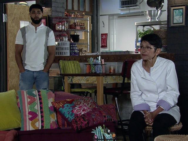 Zeedan and Yasmeen on the second episode of Coronation Street on September 17, 2021