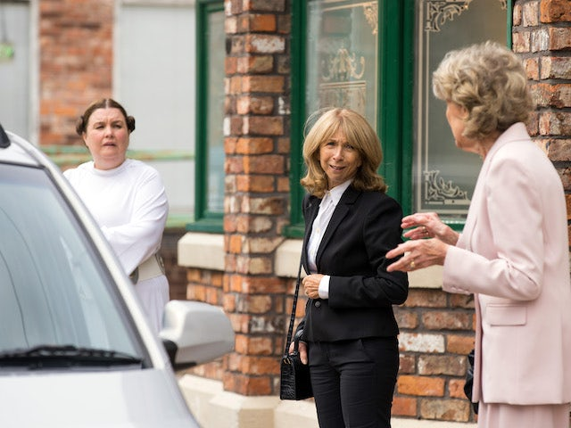 Mary, Gail and Audrey on the first episode of Coronation Street on September 24, 2021