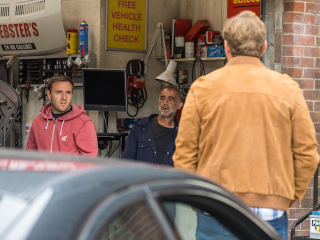 Tyrone and Phill on the first episode of Coronation Street on September 17, 2021