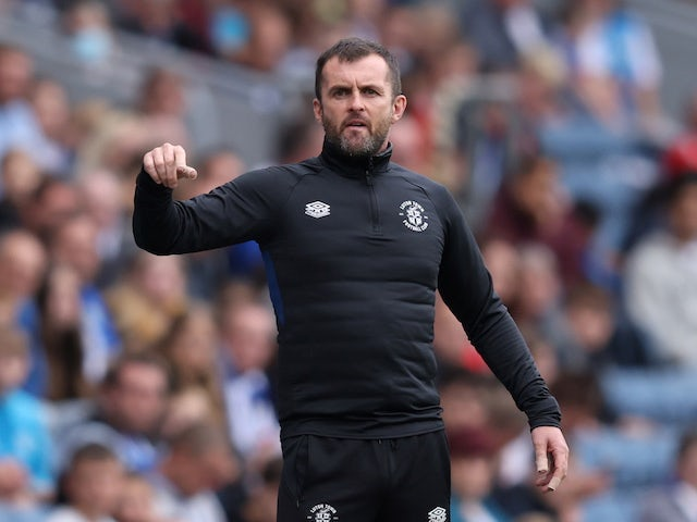 Luton Town's manager Nathan Jones on September 11, 2021
