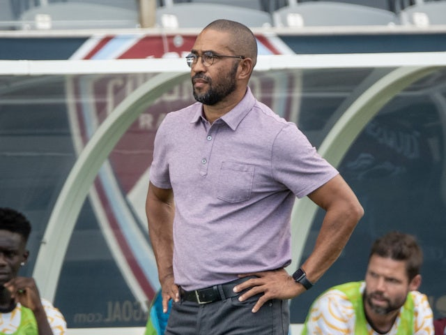 Colorado Rapids head coach Robin Fraser looks on in the first half against the Los Angeles Galaxy at Dick's Sporting Goods Park on September 11, 2021