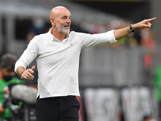 AC Milan head coach Stefano Pioli pictured in August 2021