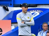 Chelsea manager Thomas Tuchel looks on on September 11, 2021