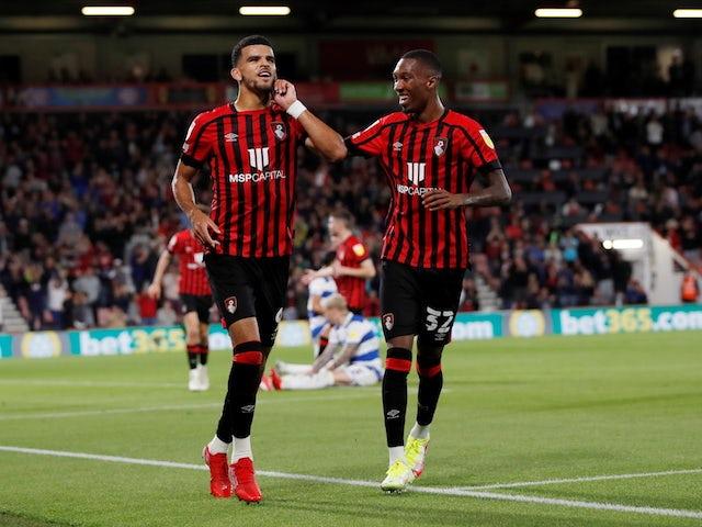 Bournemouth's Dominic Solanke celebrates scoring their second goal on September 14, 2021