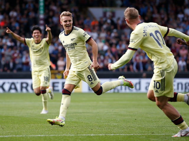 Result: Martin Odegaard's stunning free-kick helps Arsenal beat Burnley