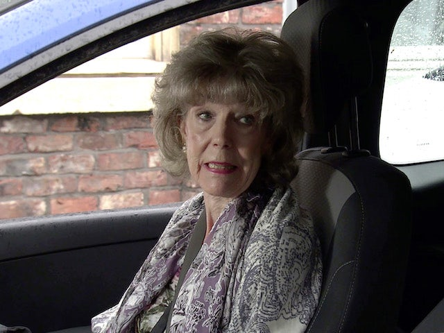 Audrey on the first episode of Coronation Street on September 29, 2021