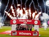 Kent celebrate winning the Vitality Blast on September 18, 2021