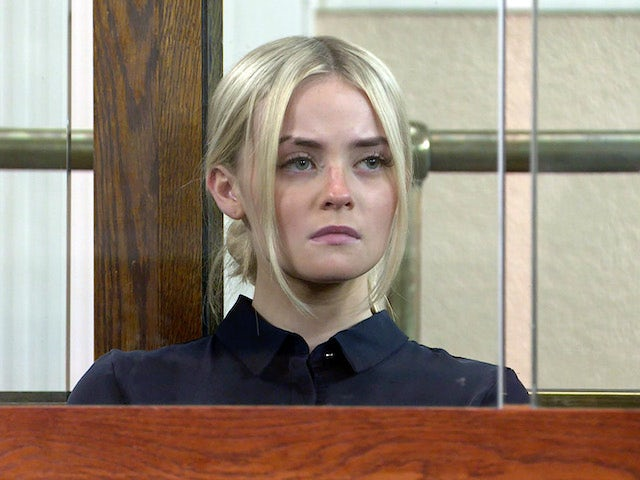 Kelly on the first episode of Coronation Street on September 29, 2021