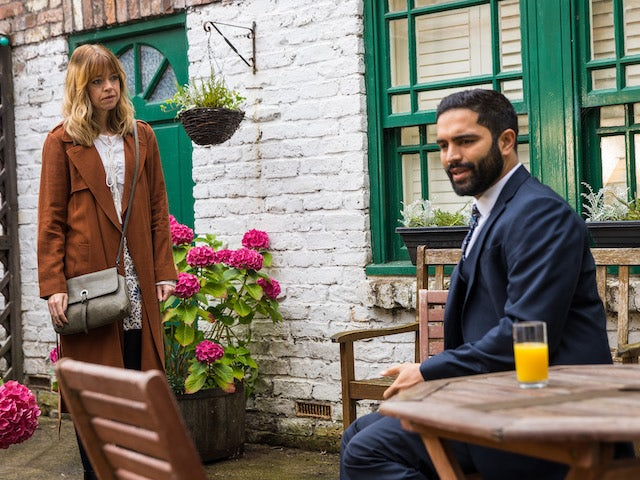 Toyah and Imran on the second episode of Coronation Street on October 1, 2021