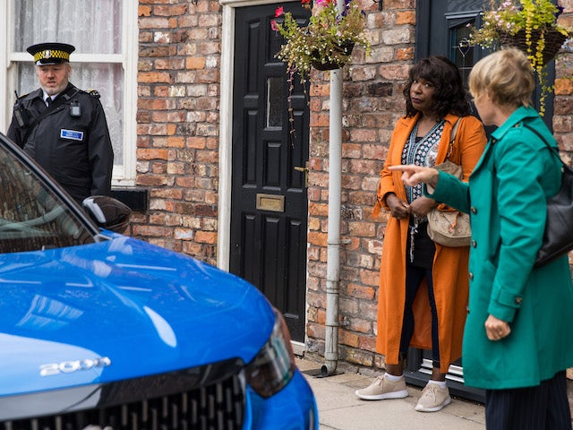 Aggie and Sally on the second episode of Coronation Street on October 1, 2021