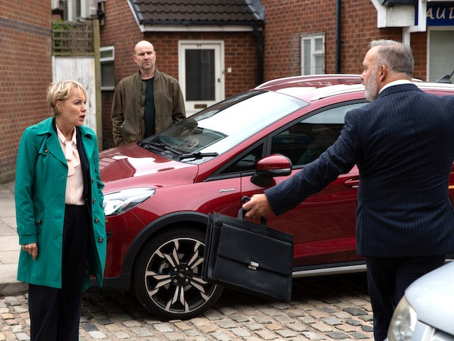 Sally on the first episode of Coronation Street on October 1, 2021