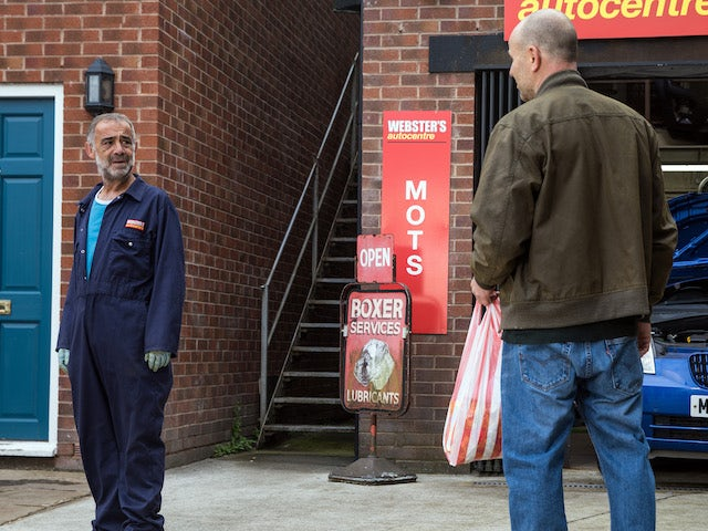 Kevin and Tim on the second episode of Coronation Street on October 1, 2021